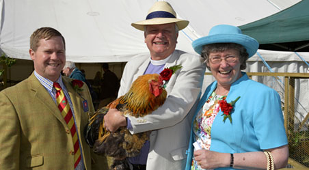 Dean of Winchester visits the Poultry Tent