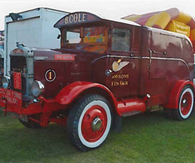Vice President carries out Scammell Restoration